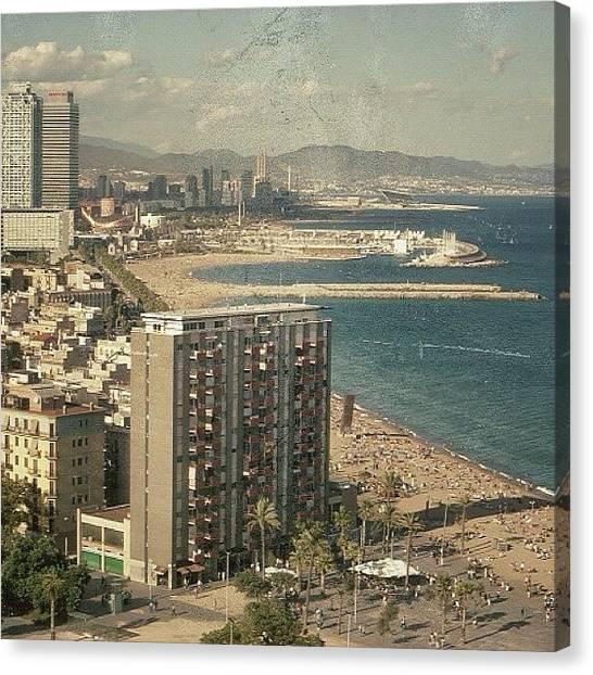 Barcelona Canvas Print - Barceloneta - Barcelona by Joel Lopez