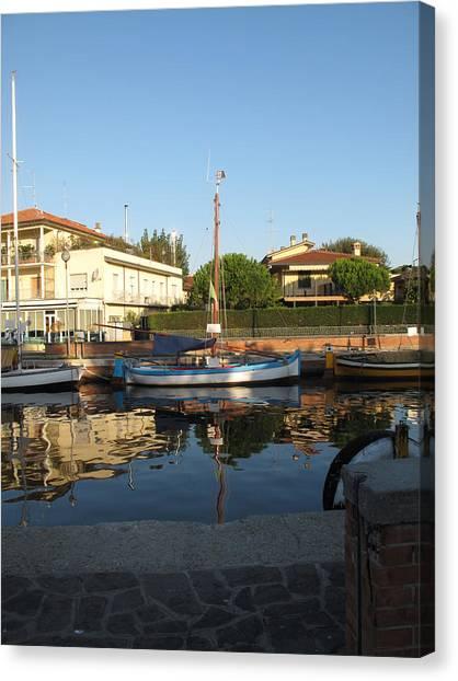 Barche Da Pesca Cervia Porto Canvas Print