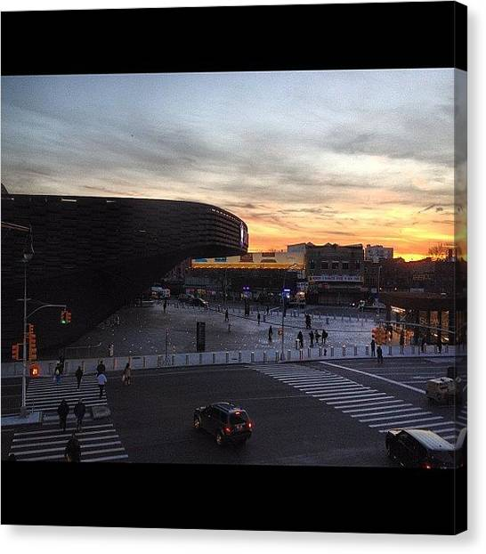Stadiums Canvas Print - #barclayscenter by Anthony McNally