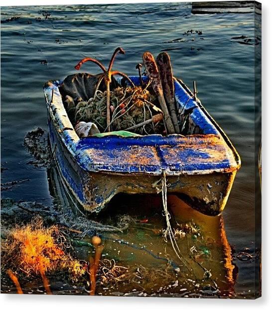 Fishing Boats Canvas Print - Barco De Pesca Zona Ribeirinha.barreiro by Filipe Oliveira