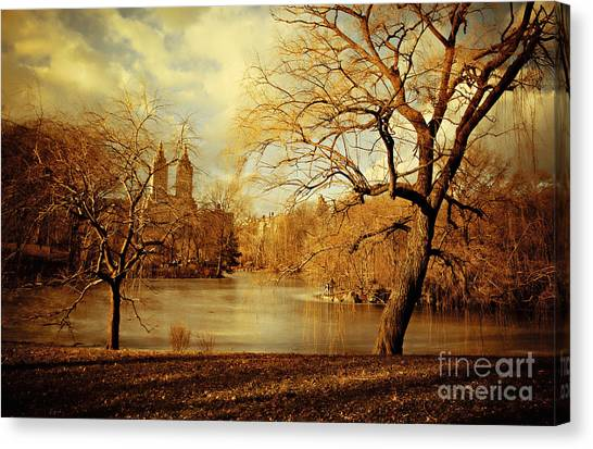Bare Beauty In Central Park Canvas Print