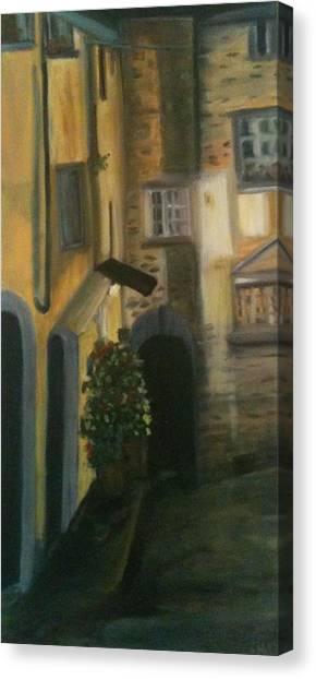 Barga Night Lights Canvas Print by Betty Pimm