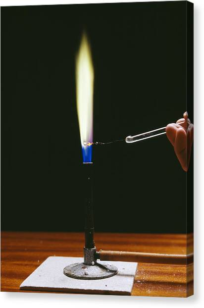 Flame Test Canvas Print - Barium Flame Test by Andrew Lambert Photography