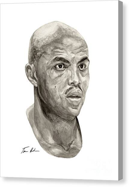 Phoenix Suns Canvas Print - Barkley by Tamir Barkan