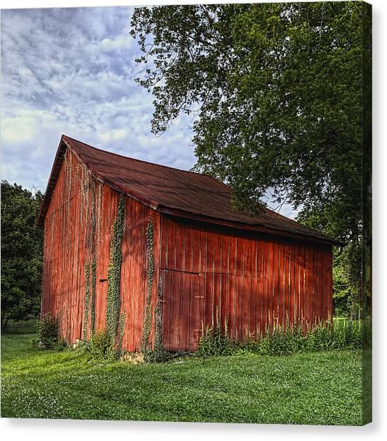 Barn At Avenel Plantation - Bedford Va Canvas Print