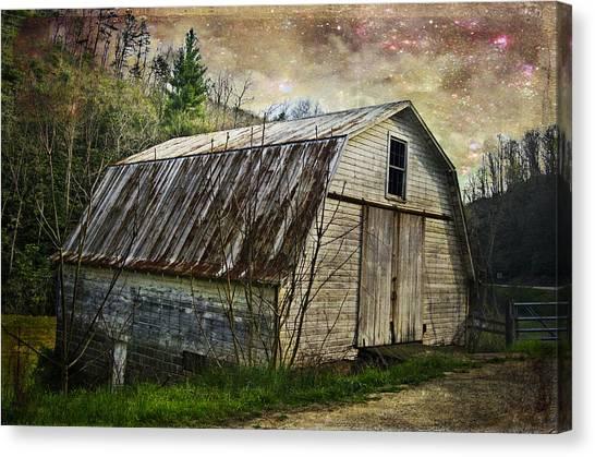 Barn At Twilight Canvas Print