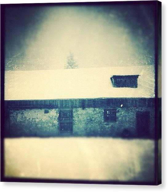 Farmhouse Canvas Print - #barn by Charlotte Ashu