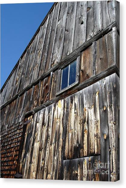 Barn End Looking Up Canvas Print