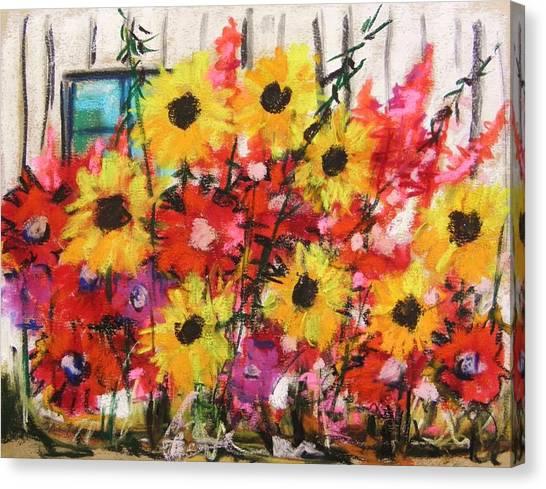 Barn Garden Canvas Print by John Williams