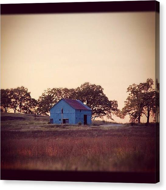 Wisconsin Canvas Print - Barn In A Field. #barn Drive By #sky by Aran Ackley