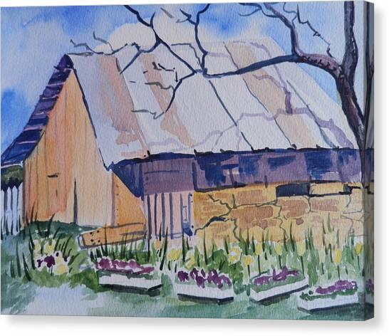 Barn Near Payson Canvas Print