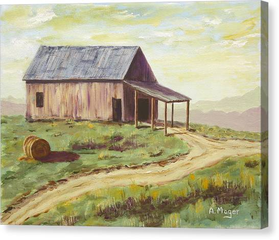 Barn On The Ridge Canvas Print