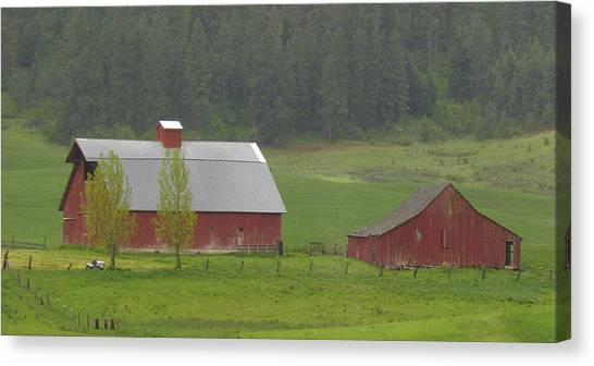 Barns Of The Palouse 5 Canvas Print by Tony and Kristi Middleton