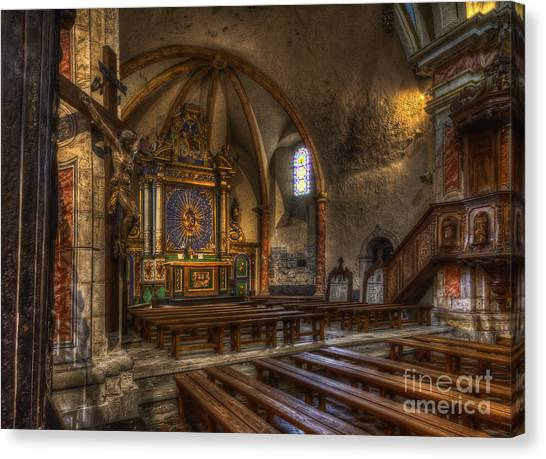 Baroque Church In Savoire France 2 Canvas Print