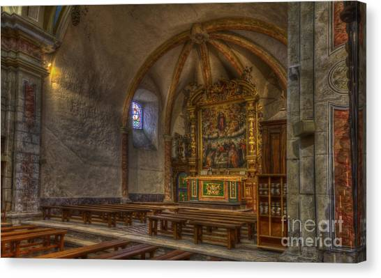 Baroque Church In Savoire France 3 Canvas Print