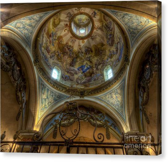 Baroque Church In Savoire France 5 Canvas Print