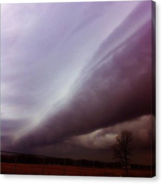 Tornadoes Canvas Print - Barrel Cloud by Cassie OToole
