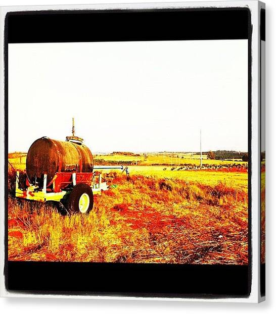 Israeli Canvas Print - #barrel #wheels #view #scenic #rehovot by Alon Ben Levy