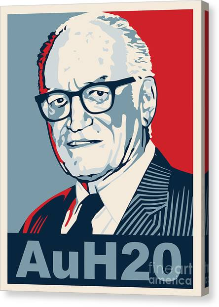 Libertarian Canvas Print - Barry Goldwater by John L