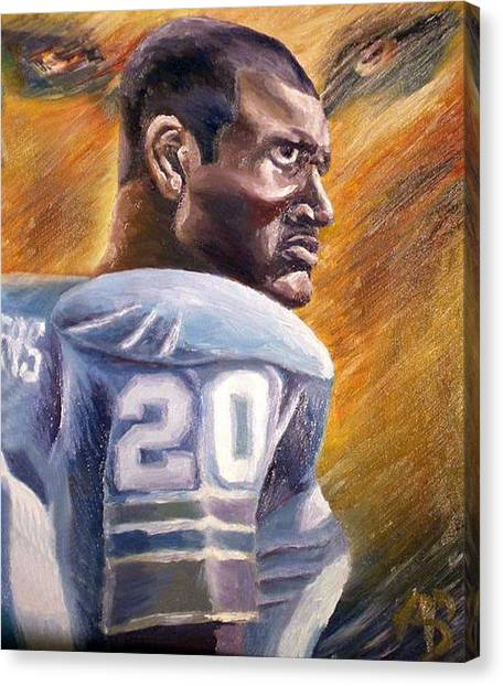 Barry Sanders Canvas Print - Barry Sanders by Adam Barone