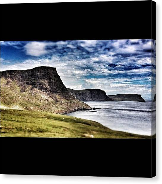 Geology Canvas Print - Basalt Cliffs, Niest Point, Isle Of by Robert Campbell