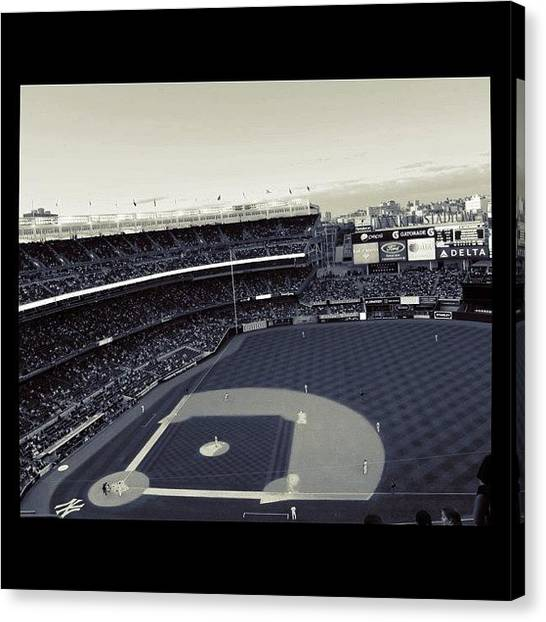 Stadiums Canvas Print - Baseball by Emily Moore
