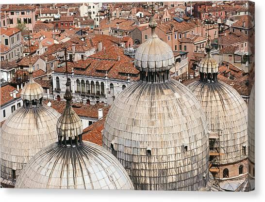 Basilica Di San Marco Canvas Print by Carlos Diaz