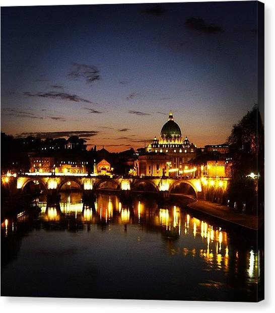Rome Canvas Print - Basilica Di San Pietro In Vaticani by Thalia Stachtea