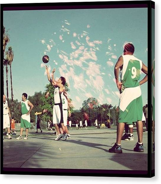 Basketball Teams Canvas Print - #basketball #ball #bball by Almita Soul