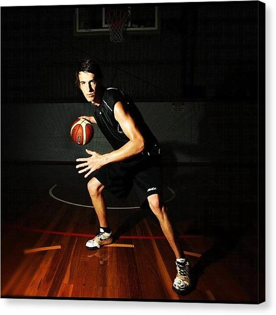 Basketball Teams Canvas Print - Basketball (sam Mcbeth) #college by Luke Fuda