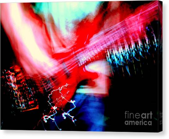Bass Guitar 1 Canvas Print by Jason D Rogers