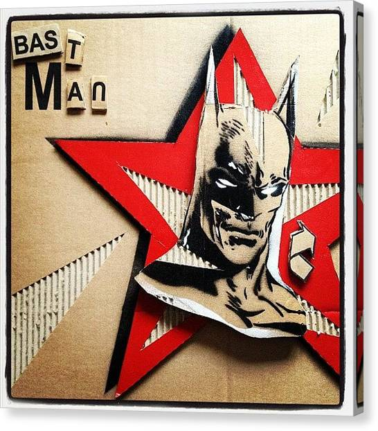 Bat Canvas Print - Bastman by Damien-paul Gal