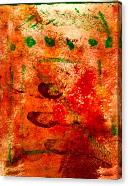 Bathed In Clay Garden  Canvas Print by Kimanthi Toure
