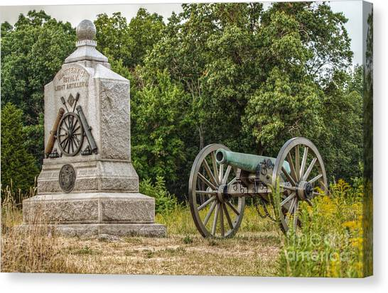 Battery D 1st Ny Light Artillery At Gettysburg Canvas Print by Randy Steele