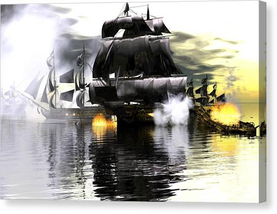 Battle Smoke Canvas Print