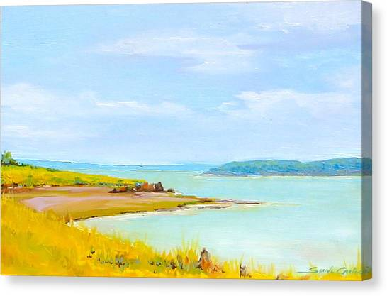Bay Of Fundy From Eastport Canvas Print