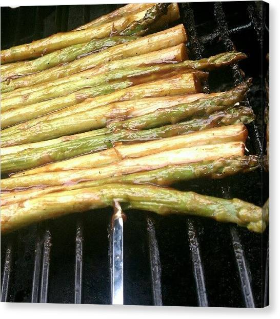 Grills Canvas Print - Bbq'd Asparagus by Ashley Woods