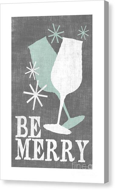 Meals Canvas Print - Be Merry by Misty Diller