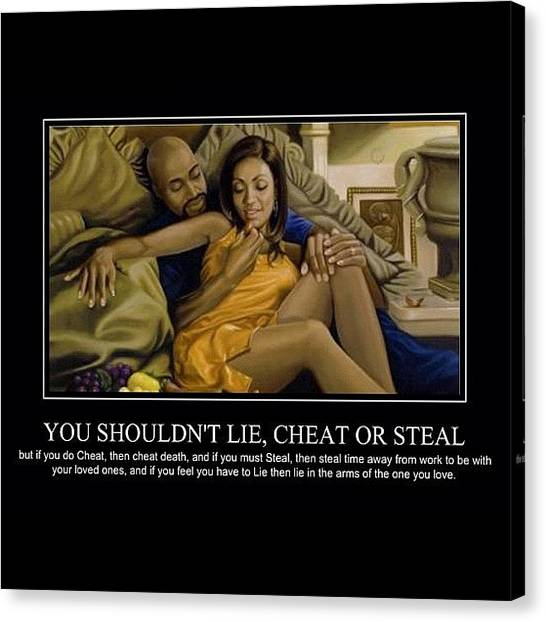 Erotic Canvas Print - Be With The One You Love by Nigel Williams