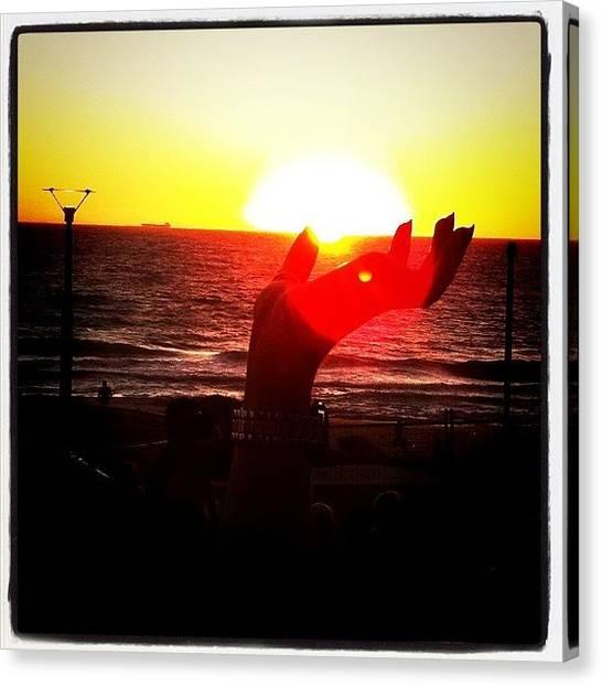 Ocean Sunsets Canvas Print - #beach #australia #westernaustalia by Kirk Roberts