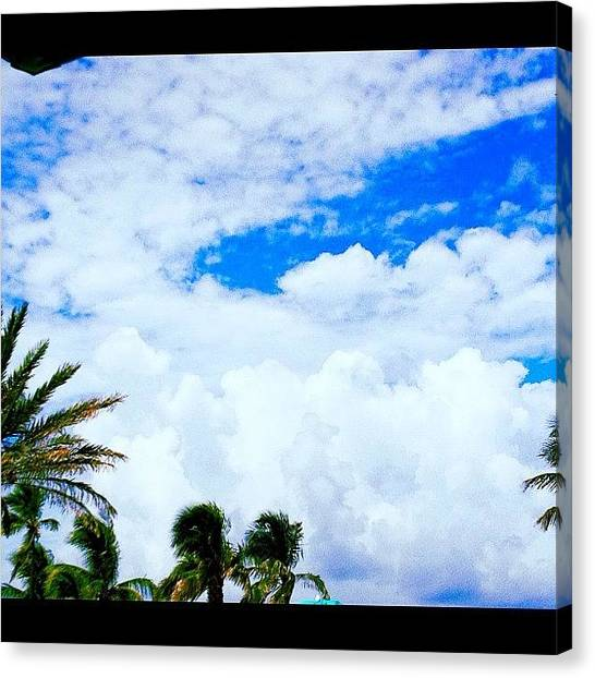 Social Canvas Print - #beach #bestpic #beautiful #sea #sky by Susan McGurl