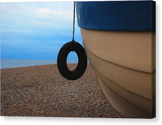 Beach Boat Canvas Print by Duncan Nelson
