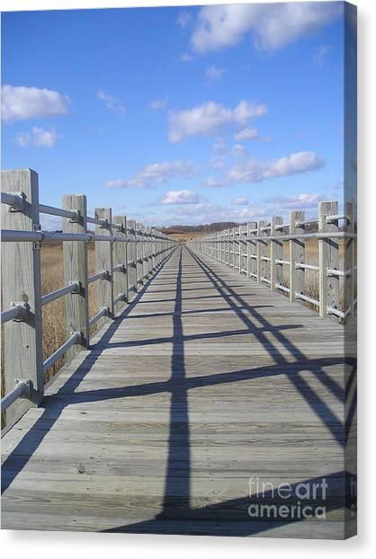 Canvas Print - Beach Bridge by Silvie Kendall