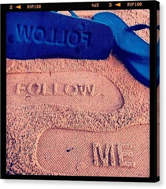 Bikini Canvas Print - #beach #cool #sand #blue #good by Maria Ramos Blonval