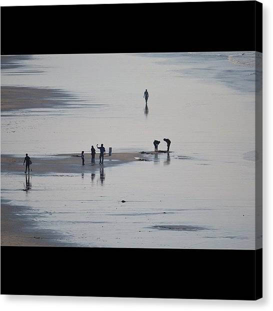 Humans Canvas Print - Beach Day. by Birgit Zimmerman