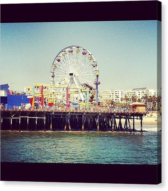 Santa Monica Pier Canvas Print - Beach Day by Melinda Brown