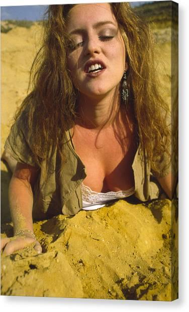 Beach Girl Canvas Print by Franz Roth