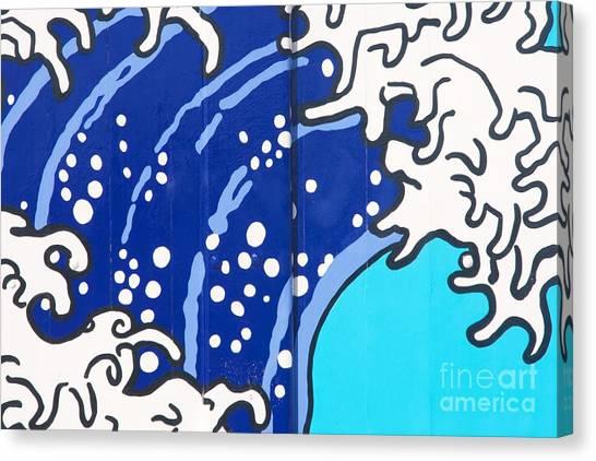 Beach House - Big Wave I Canvas Print by Hideaki Sakurai