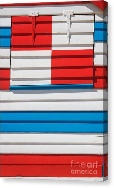 Beach House - Tricolore I Canvas Print by Hideaki Sakurai