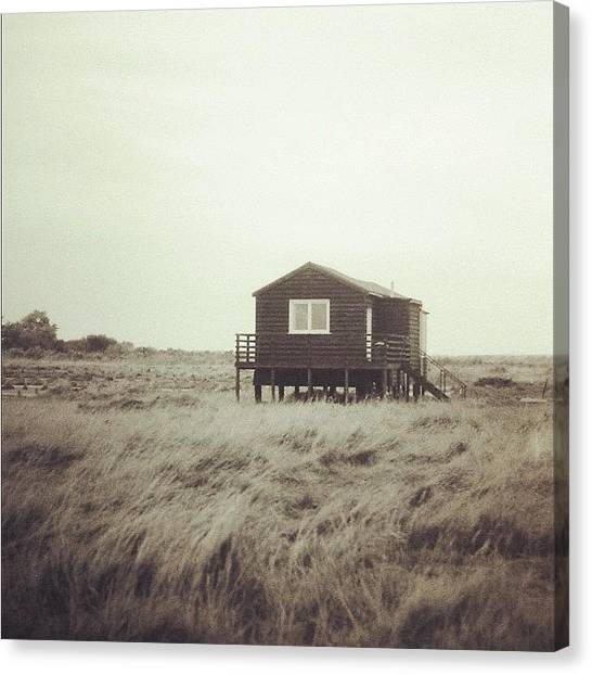 Marshes Canvas Print - Beach Hut by Tom Crask